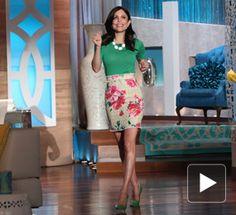 Sweater: J Crew  Skirt: Dolce & Gabbana  Shoes: alice + olivia   Jewelry: Melinda Maria, Banana Republic  Watch: Michele