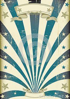 Circus blue beams vintage poster