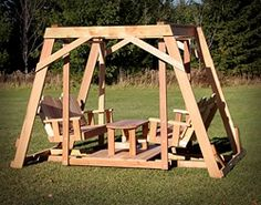 Our Timestopper Double Seated Swing are built to last!  Strong and sturdy built of solid Western Red Cedar.  Just like the one Grandma used to have.  Will seat 4 adults and bring a smile to the face of everyone.