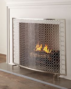 Sabrina Fireplace Screen by INTERLUDE at Neiman Marcus.