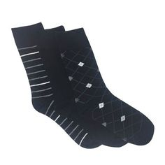 Secret Ladies Patterned Crew Sock 3pk | Walmart Canada Dress Socks, Walmart, Canada, Amp, Clothing, Pattern, Accessories, Shoes, Black