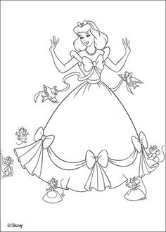 Disney Princess Snow White With 6 Of The 7 Dwarves Coloring Page Disney Princess Crown Coloring Pages
