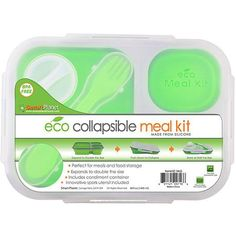Kids' Lunch Boxes - Smart Planet Collapsible Eco Meal Kit Large Green >>> Check out the image by visiting the link. Lunch Containers, Storage Containers, Condiment Holder, Boite A Lunch, Cool Lunch Boxes, Lunch To Go, Bento Box, Biodegradable Products, Planets