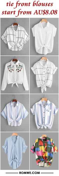 tie front blouses from AU$8.08