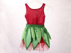 Kostüme für Kinder - Kinderkostüm Elfe ( rot) - ein Designerstück von Sonnen-Koenig bei DaWanda