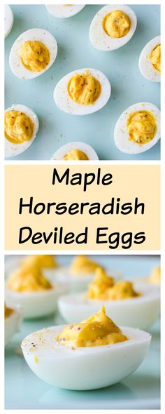 Maple Horseradish Deviled Eggs — Kristin's Kitchen - Creative Vegetarian and Indulgent Desserts