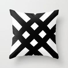 dijagonala Throw Pillow by trebam - Cover x with pillow insert - Indoor Pillow Sewing Pillows, Diy Pillows, Sofa Pillows, Decorative Pillows, Cushions, Couch Cushion Covers, Diy Pillow Covers, White Throw Pillows, Pillow Fight