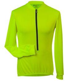 Aero Tech Long Sleeve Cycling Jersey High Visibility Safety Yellow 701b4e291