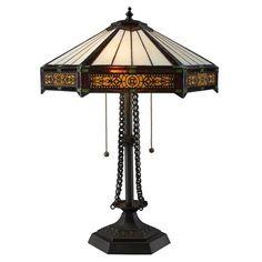 Filigree craftsman style table lamp.