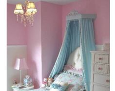 Princess bed crown made by hand with wood plus all extras