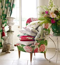 Sanderson - Fabric - Cotton, Linen and Silk Fabric suitable for Curtains, Upholstery and Soft Furnishings. Love the curtains