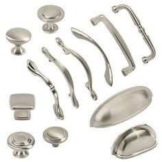 1000 ideas about kitchen cabinet knobs on pinterest for Brushed nickel hardware for kitchen cabinets