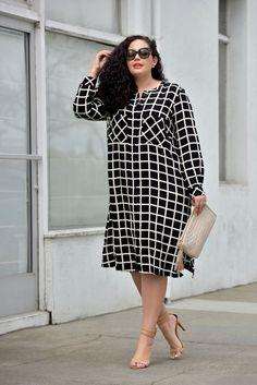 Fashion Women's Plus Size Curvy Fashionista Simple 46 Ideas For 2019 Vestidos Plus Size, Plus Size Dresses, Plus Size Outfits, Dresses For Work, Plus Size Shirt Dress, Plus Size Fashion For Women, Fashion Tips For Women, Plus Size Women, Fashion Ideas