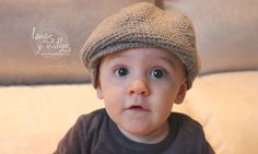 Tutorial Gorro o Boina Bebé Crochet o Ganchillo, My Crafts and DIY Projects Crochet Baby Hat Patterns, Crochet Cap, Crochet Baby Clothes, Crochet Baby Hats, Crochet Beanie, Love Crochet, Baby Patterns, Crochet Toys, Baby Knitting