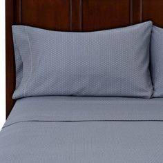 Hotel Style 500 Thread Count Wrinkle Free Egyption Cotton True Grip Bedding Sheet Set, Gray