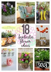 18 Fantastic Flower Ideas {Get Your DIY on Features!}