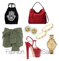 """""""Untitled #3"""" by prettysage on Polyvore featuring Faith Connexion, Gucci, Cartier and Lacoste"""