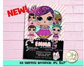 Printable & Customized Invitations and Party Decoration by ohmypartystudio Justice League Party, Pink Street, Doll Party, Boy Birthday Parties, My Princess, Custom Invitations, Etsy Seller, Joy, Dolls