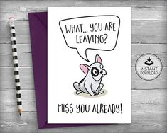 Humour Friends of Henry Leaving card Rude finger Funny going away card