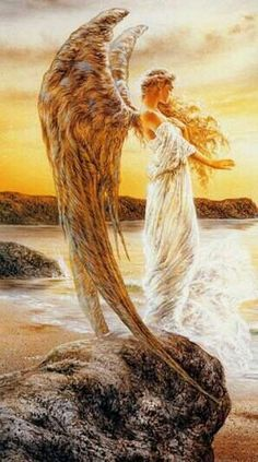 Angel detail -- Art by Luis Royo Angels Among Us, Angels And Demons, Spiritual Tattoo, Angel Guide, I Believe In Angels, Ange Demon, Luis Royo, Psy Art, Angel Pictures