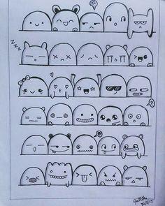 Doodle Art 52987733105168282 - through geethika geetha – griffonnages par geethika geetha – # Griffonnages Source by helenesmouts Emoji Drawings, Kawaii Drawings, Easy Drawings, Pencil Drawings, Cute Doodles Drawings, Funny Doodles, Charcoal Drawings, Funny Drawings, Bullet Journal Art