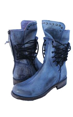 Fen Boots - Steel Blue Rustic | Bed Stu | It's a Shopping Thing