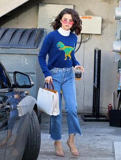 Leaving Nine Zero One Salon in West Hollywood, CA - January 19, 2017