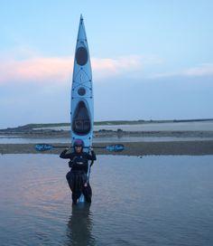 Yali, Formosa Kayak School, ready for take-off with Whisky 16, Penghu Islands Taiwan