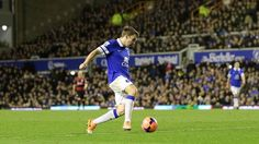 4 January 2014 Seamus Coleman steers a powerful side-foot shot into the far corner of the QPR net to complete a 4-0 victory over QPR in the third round of the FA Cup
