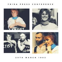 """Today in 1982 Frida and Phil Collins held a press conference to discuss her solo album """"Something's Going On"""" #Abba #Frida #PhilCollins http://abbafansblog.blogspot.co.uk/2017/03/29th-march-1982.html"""