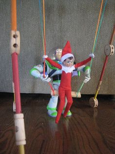 Elf on the Shelf Ideas. I can't wait for lil Seath to be older and do these things with our child!