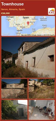 Townhouse for Sale in Seron, Almeria, Spain - A Spanish Life Murcia, Valencia, Portugal, Townhouse, Cave, Spanish, Homes, Building, Majorca