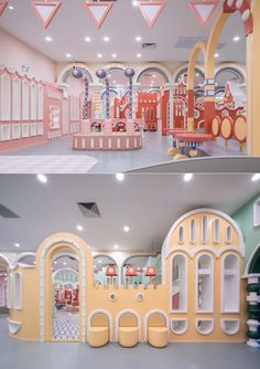 Baoyan Park Children's Entertainment Park - Beijing, China - The Cool Hunter - The Cool Hunter park Baoyan Park Children's Entertainment Park - Beijing, China Creative Kids Rooms, Kids Indoor Playground, Kindergarten Design, Booth Design, Dream Rooms, Cool Rooms, Kid Spaces, Beijing China, Kids Playing