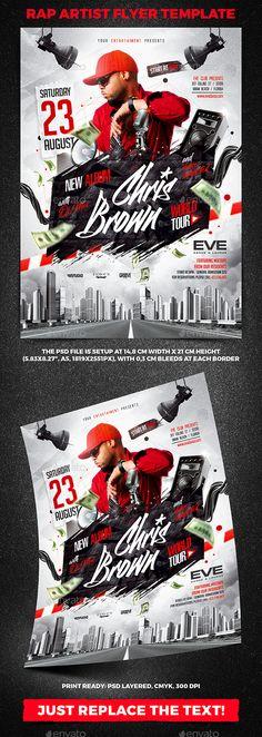 Rap Artist Flyer Template vol.1