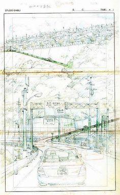 Film: Spirited Away (?) ===== Layout Design - Scene: Up The Hill ===== Hayao Miyazaki Studio Ghibli Background, Animation Background, Studio Ghibli Art, Studio Ghibli Movies, Bg Design, Layout Design, Animation Storyboard, Storyboard Examples, Frame By Frame Animation