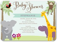Sunny Safari - Baby Shower Invitations in Aloe | simplyput by Ashley Woodman