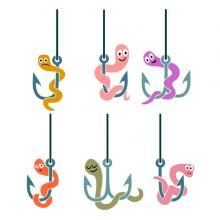 Worms SVG Cuttable Designs