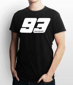 Marc Marquez 93 Black Custom T Shirt, Tee