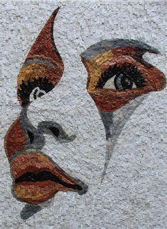 Cette incroyable abstrait Portrait moderne Decor 22 x 30 » mosaïque en marbre Art Pierre est coupé à partir de pierres naturelles à la main. Il donnera de grande valeur à la chambre ou zone vous installez dedans. Poids : 9 KG (20 livres) Dimensions : 56 x 77 cm (22 x 30 pouces)
