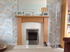 """""""Excellent friendly service, delivered within a few days of ordering, Very happy with the fire surround. Marble Hearth, Granite Hearth, Home Fireplace, Fireplace Surrounds, Fireplaces, Contemporary Gas Fires, Oak Fire Surround, Inset Stoves, Black Granite"""