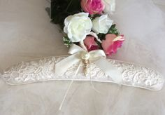 A personal favourite from my Etsy shop https://www.etsy.com/au/listing/456040260/bridal-dress-hanger-lace-dress-hanger