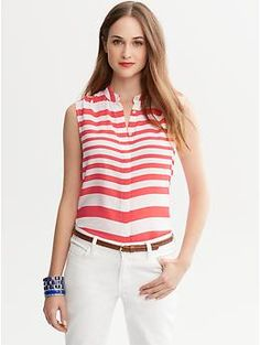 Wide-Stripe Top | Banana Republic