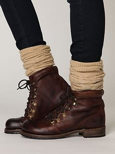 Love the boots with the high wool socks. Cutest things ever to wear with some skinnies! :)
