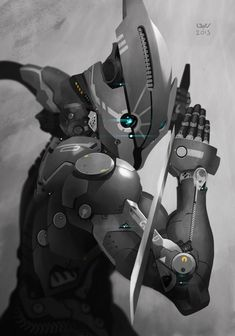 Ok Pinterest I will describe this pin...Ultra Class Cyborg Ninja.