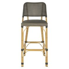 HAVE A SEAT !  in white ...  Valence Wicker Patio Barstool