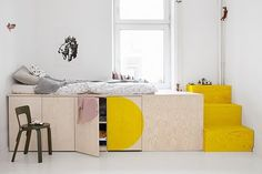 Children's room and family home by the Berlin design team jäll & tofta. Interior designs made in Germany and individually … Home Bedroom, Kids Bedroom, Bedroom Decor, Bedrooms, Plataform Bed, Kids Room Design, My New Room, Small Spaces, Home And Family