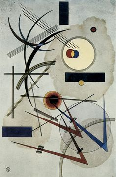 The Athenaeum - Grey-Blue (Wassily Kandinsky - )- 1925 Private collection Painting - watercolor Height: cm in. Wassily Kandinsky, Abstract Words, Abstract Painters, Abstract Art, Klimt, Modern Art, Contemporary Art, Franz Marc, Abstract Expressionism