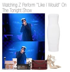 """""""Watching Z Perform ''Like I Would'' On The Tonight Show Starring Jimmy Fallon"""" by katarina-stilinski ❤ liked on Polyvore featuring Casetify, Gianvito Rossi, MAC Cosmetics, Anastasia Beverly Hills, Chanel, Blue Nile and LORAC"""