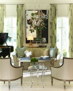 need some glamour in my sunroom!!  Laura Lee Clark Interior Design