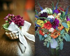 Dawn + James - love the #country #garden feel of these #flowers!